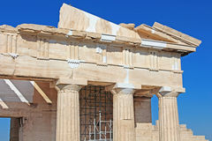 Propylaea is the monumental gateway to the Acropolis. The Propylaea was built under the general direction of the Athenian leader Pericles, Athens, Greece Stock Photography
