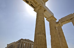 Propylaea and Parthenon in Athens, Greece Stock Photos