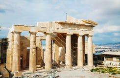 Propylaea przy akropolem w Ateny, Grecja Zdjęcie Royalty Free