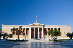 The Propylaea of the University of Athens. Stock Image
