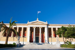 The Propylaea of the University of Athens. Royalty Free Stock Photo