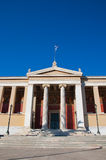The Propylaea of the University of Athens. Royalty Free Stock Image