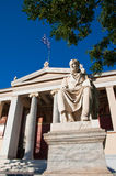 The Propylaea of the University of Athens. Stock Photos
