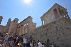 Propylaea van de Akropolis van Athene Architectuur, Geschiedenis, Reis, Landschappen stock afbeelding