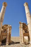 Propylaeum alle rovine di Jerash (Giordano) immagine stock libera da diritti