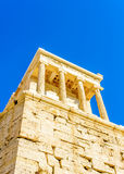 Propylaia of Acropolis. Beautiful Propylaia of Acropolis in Athens Greece Royalty Free Stock Image