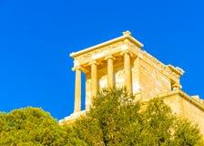 Propylia of Acropolis. Propylaia of Acropolis in Athens Greece Royalty Free Stock Photo
