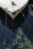 Prora di un peschereccio mediterraneo tradizionale Fotografia Stock