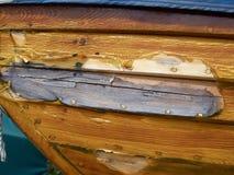 Prora di una barca di legno fotografie stock