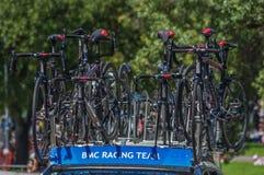 Proradfahrenteam bikes Stockfoto