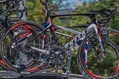Proradfahrenteam bikes Lizenzfreies Stockbild