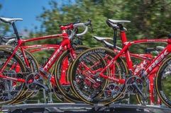 Proradfahrenteam bikes Stockfotografie