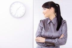 Prortrait di profilo della donna di affari Immagini Stock