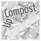 21 The Pros of Composting Versus the Cons word cloud concept  background. Text Royalty Free Stock Photo