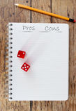 Pros and cons Royalty Free Stock Image