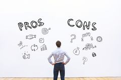 Pros and cons, advantage disadvantage. Concept Royalty Free Stock Photography