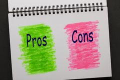 Pros and Cons Concept stock illustration
