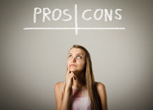 Pros and cons. Hesitation. Royalty Free Stock Images