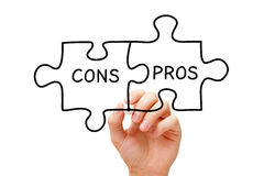 Pros Cons Jigsaw Puzzle Concept Royalty Free Stock Photography