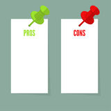 Pros and Cons list Stock Photo