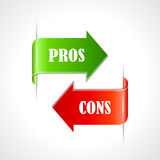 Pros and cons ribbons Royalty Free Stock Photos