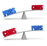 Pros and Cons Set Royalty Free Stock Image