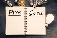 Pros and Cons Royalty Free Stock Photos