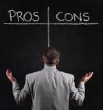 Pros - en - cons. Stock Fotografie