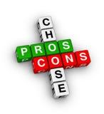 Pros - en - cons Stock Afbeeldingen