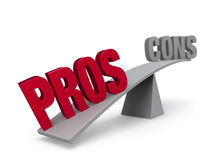 Pros Outweigh Cons Stock Images