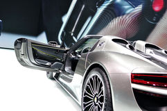 Prosche 918 Spider Hybrid on IAA 2013 Royalty Free Stock Image