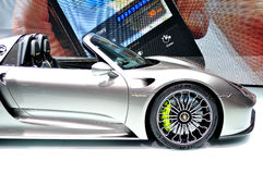 Prosche 918 Spider Hybrid on IAA 2013 Stock Photos