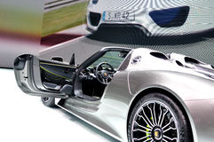 Prosche 918 Spider Hybrid on IAA 2013 Stock Image