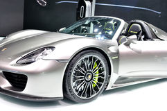 Prosche 918 Spider Hybrid on IAA 2013 Royalty Free Stock Photo