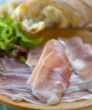 Proschiutto-Schinken mit Sandwich Stockbilder