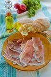 Proschiuttoham met sandwich Stock Afbeeldingen