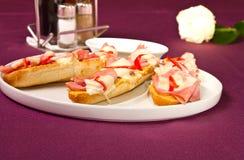 Prosciuto sandwich Stock Photography