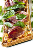 Prosciutto and Basil Quiche Royalty Free Stock Image