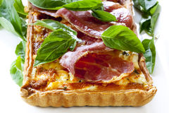 Prosciutto and Basil Quiche Royalty Free Stock Photo