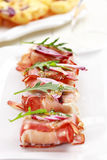 Prosciutto cheese rolls Stock Photography