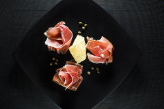 Prosciutto - cold meat Royalty Free Stock Images