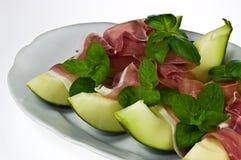 Prosciutto con melone Royalty Free Stock Image