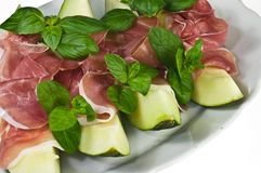 Prosciutto con melone Royalty Free Stock Photography