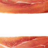 Prosciutto copyspace background Stock Photo