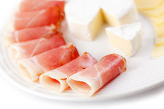 Prosciutto crudo ham Royalty Free Stock Photography