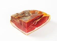 Prosciutto crudo. Italian dry-cured ham royalty free stock photography