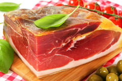Prosciutto crudo Royalty Free Stock Image