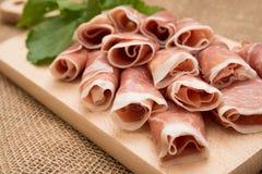 Prosciutto Crudo, Italian Ham Royalty Free Stock Photos