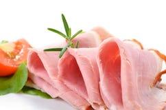 Prosciutto cucinato squisito Fotografie Stock