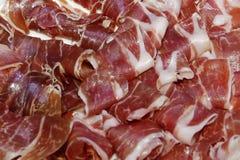 Prosciutto curato della carne di maiale Fotografie Stock Libere da Diritti